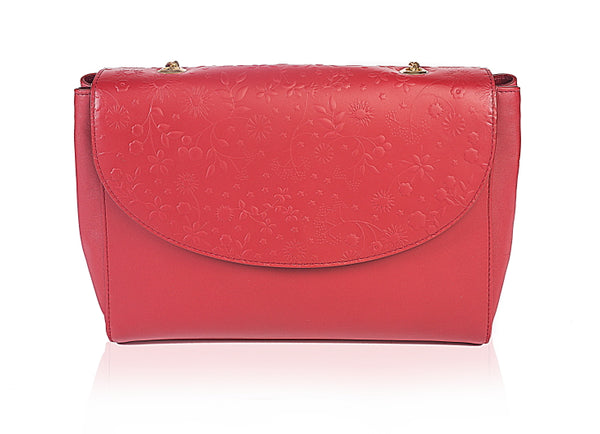 Oleander Red Shoulder Bag
