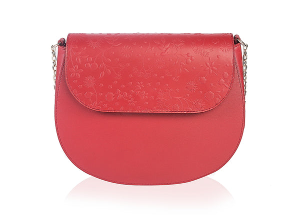 Red Anemone Leather Bag