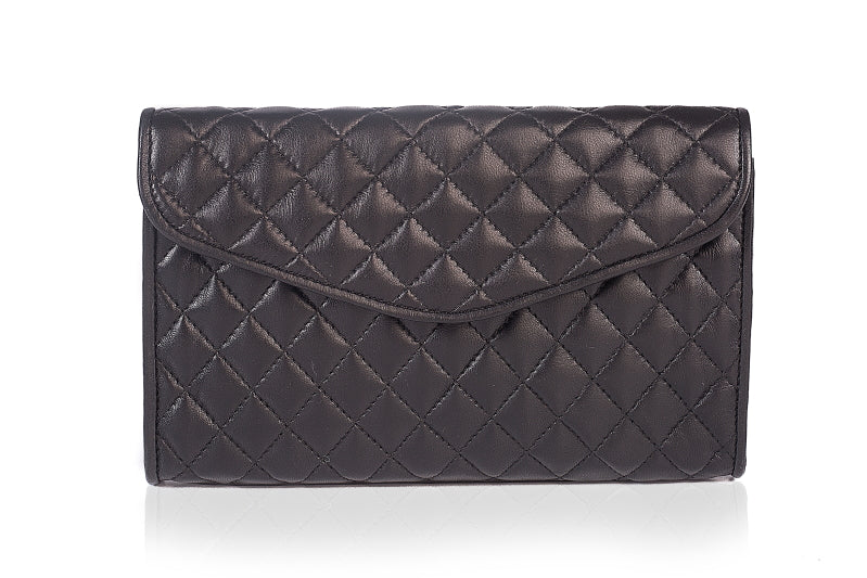 Coco's Black Quilted Clutch