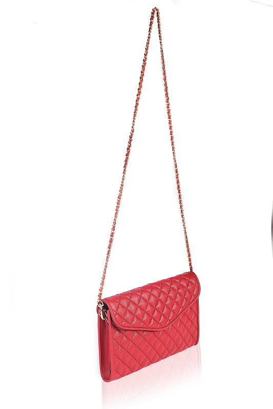Coco's Red Quilted Clutch