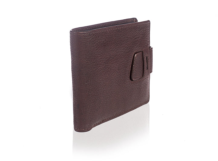 Leather Bootstrap Brown Wallet