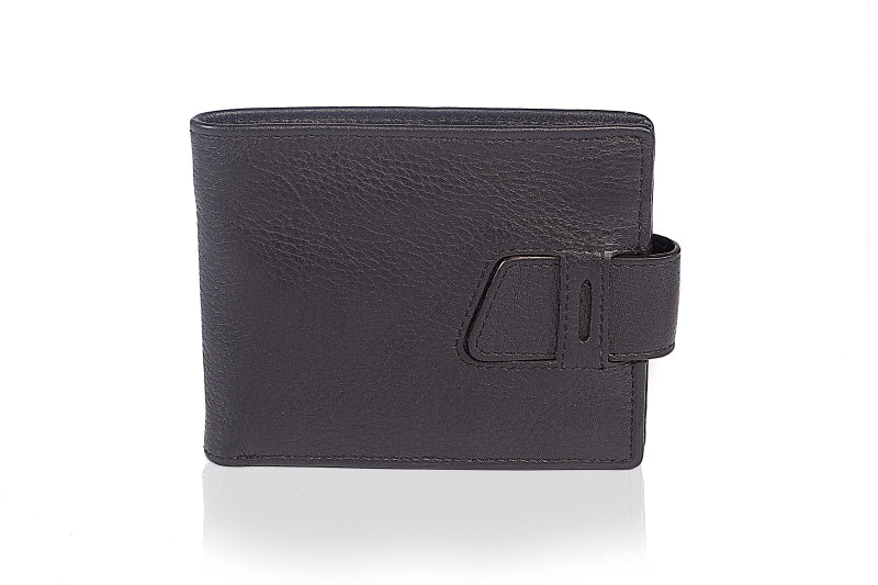 Leather Bootstrap Blue Wallet