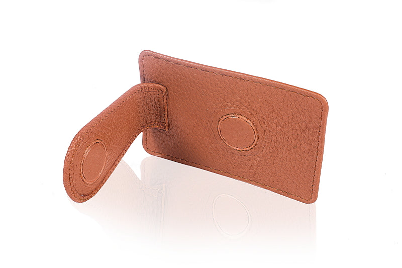 Leather Brown Moo Clip