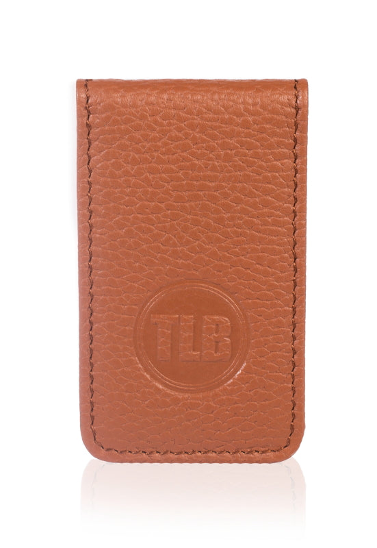 Leather Money Clip Dark Brown