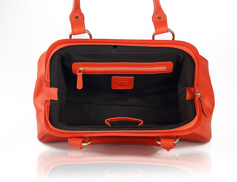 Leather Lil Doctor Red Bag