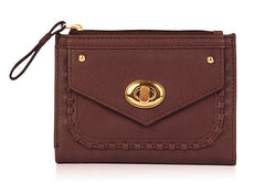 Twisty Lock Wallet - The Leather Boutique