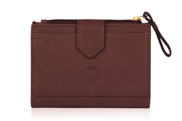 Twisty Lock Brown Wallet