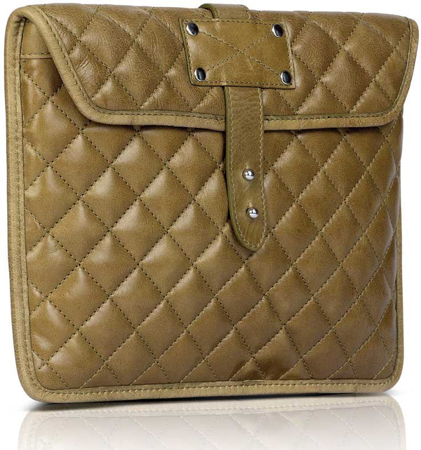 Quilted Ipad Sleeve - TLB - The Leather Boutique