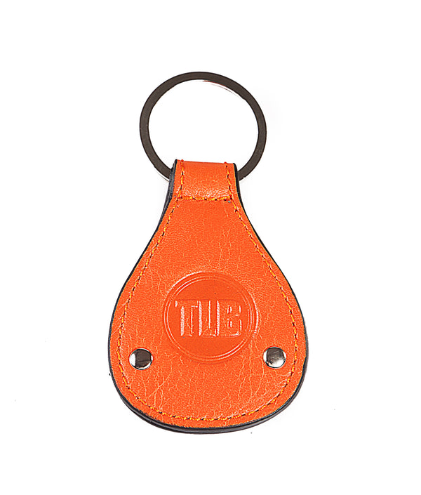 Leather Key Chain Orange