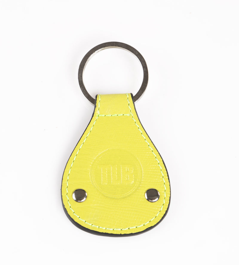 Leather Key Chain Yellow