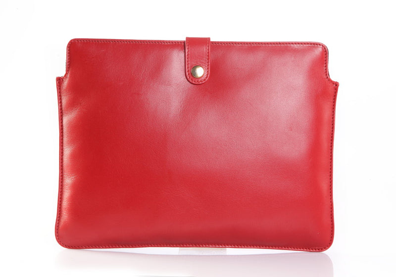 Zen Ipad Red Leather Sleeve