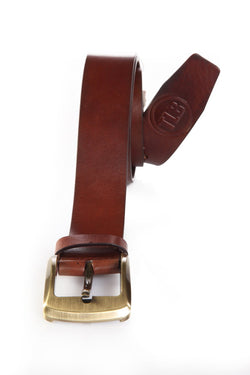 Casual Brown Leather Belt
