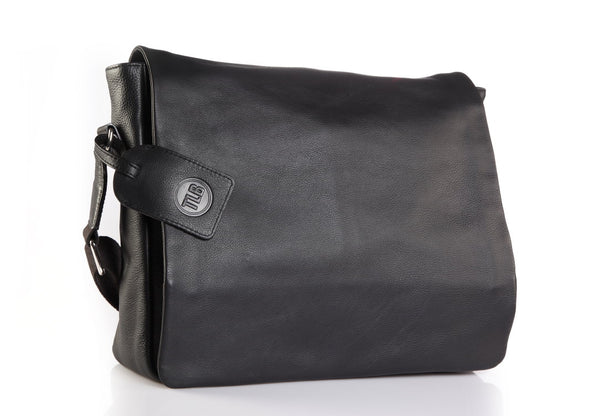 Butter Leather Black Messenger