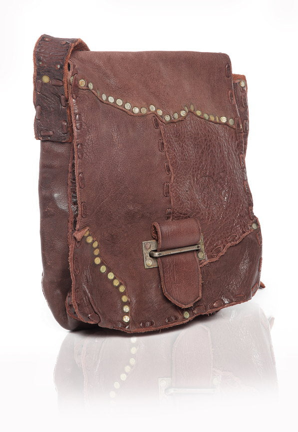 Steampunk Leather Brown Satchel