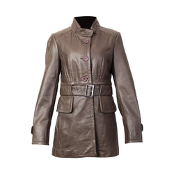 Women's Long Leather Jacket