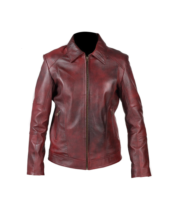 Women's Leather Jacket (Nancy) - TLB - The Leather Boutique