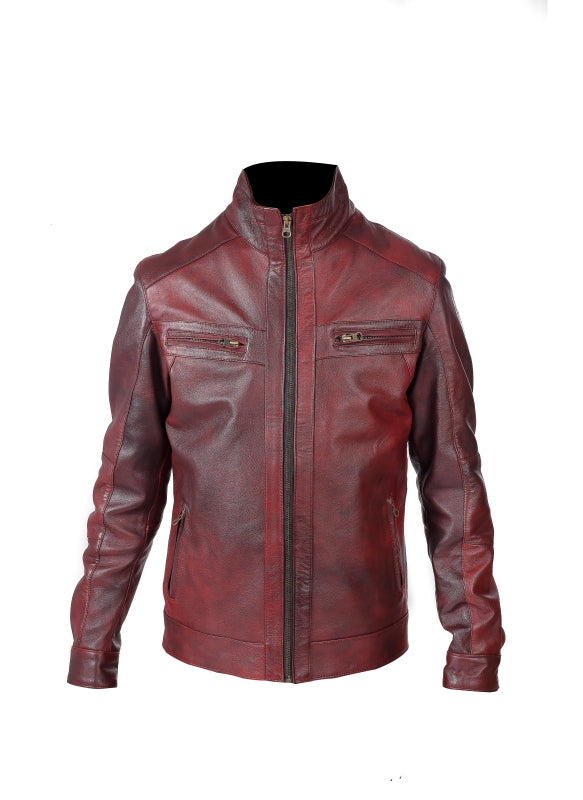 Mens Nappa Leather Jacket (Peter) - TLB - The Leather Boutique