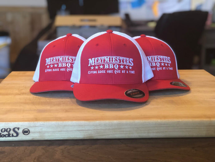 Miester Red/White Flex Fit Hat