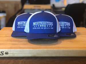 Miester Blue/White Flex Fit Hat