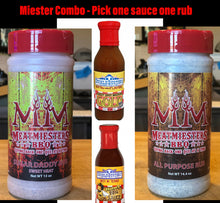 Load image into Gallery viewer, Miester Combo - One rub. One sauce. One low price!