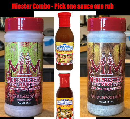 Miester Combo - One rub. One sauce. One low price!