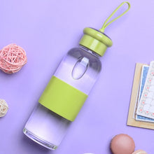 Load image into Gallery viewer, Glass Water Bottle with Silicone Grip | GetThirsty