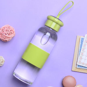 Glass Water Bottle with Silicone Grip | GetThirsty