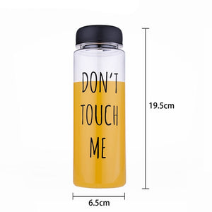 """Don't Touch Me"" & ""Drink Me"" Plastic Water Bottle 