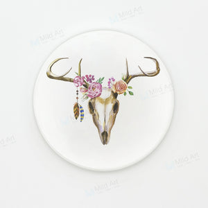 Watercolor Cow and Deer Skull Coasters | GetThirsty