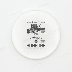 Black and White Wine Quotes Coaster | GetThirsty