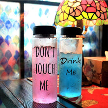 "Load image into Gallery viewer, ""Don't Touch Me"" & ""Drink Me"" Plastic Water Bottle 