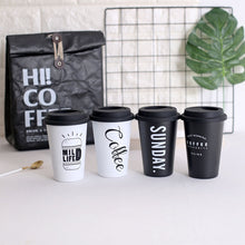 Load image into Gallery viewer, Reusable Travel Mug in Black & White | GetThirsty