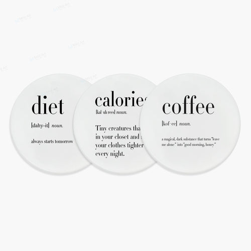 Black and White Funny Definition Coasters | GetThirsty