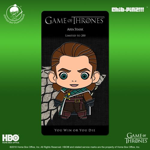 10 Chib-Pinz Game of Thrones Enamel Pin - Arya Stark