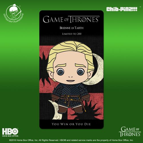 12 Chib-Pinz Game of Thrones Enamel Pin - Brienne