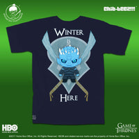 16 Chib-Teez: Winter is Here Navy Unisex Shirt