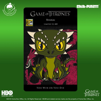 2 Chib-Pinz Game of Thrones Enamel Pin - Rhaegal