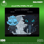 Chib-Pinz Game of Thrones Hard Enamel Pin set - Night King and Wight Viserion