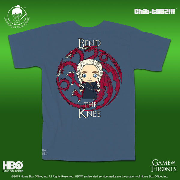 Bend the Knee Shirt - Indigo Blue