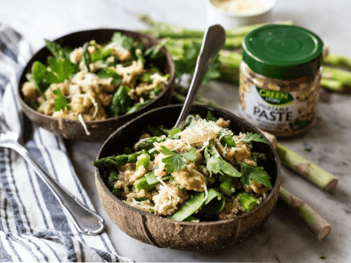 Quinoa with Asparagus and Spinach Recipe