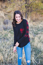Nicole Plaid Top - Copper Sky Boutique