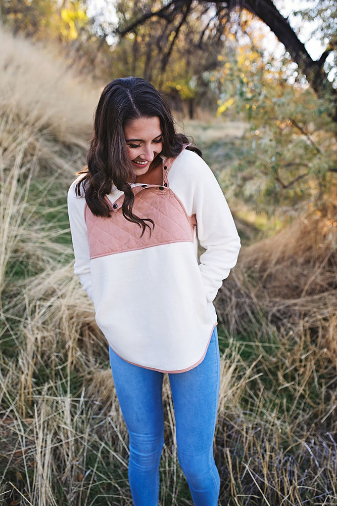 Sabrina Fleece Pullover - Copper Sky Boutique