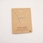 Large Triangle Necklace - Copper Sky Boutique