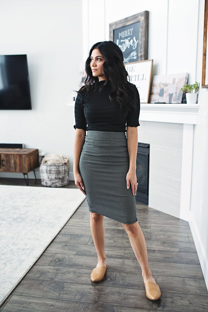 Claire Polka Dot Pencil Skirt