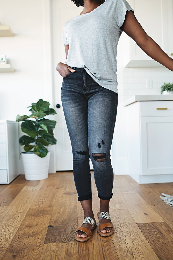 Rue High Waisted Jeans - Copper Sky Boutique