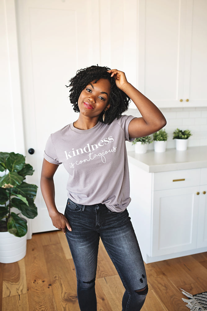 Kindness is Contagious Tee - Copper Sky Boutique