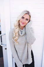 Lacee Cowl Neck Sweater - Copper Sky Boutique