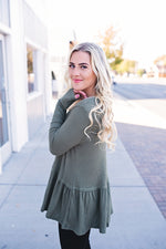 Bethany Waffle Knit Top - Copper Sky Boutique
