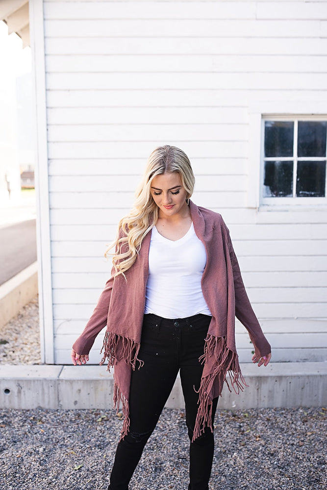 Dani Fringe Cardigan - Copper Sky Boutique
