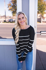 Shelby Striped Sweater - Copper Sky Boutique